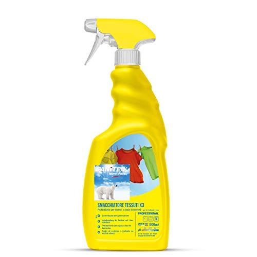 X3 Smacchiatore Tessuti Spray - Pretrattante con Solventi - 500 ml