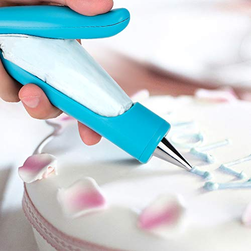 Soleebee Dekorationsstift Set Torten Dekoration Set mit Wiederverwendbar Edelstahl Spritztüllen, Spritzbeutel für Schokolade und Zuckerguss, Modellierwerkzeug für Torten Kuchen Deko Backzubehör