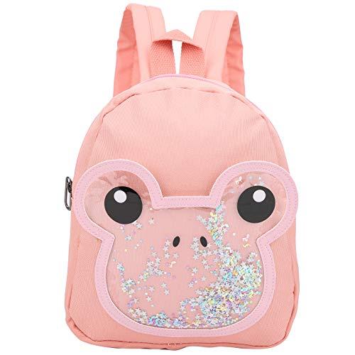 Mochila escolar, mini mochila multifuncional para niños de dibujos animados para bebés de 2 a 4 años, mochila para niños para almacenar frutas, refrigerios, libros o bebidas(Rosado)