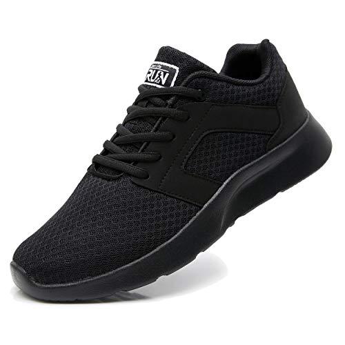 Uricoo Herren Damen Sneaker Outdoors Straßenlaufschuhe Sports KletterschuheTurnschuhe Running Fitness Atmungsaktiv Leichte Laufschuhe Sportschuhe 8996BK45