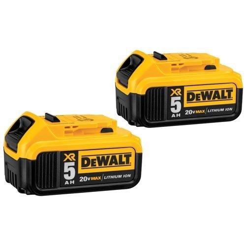 DEWALT 20V MAX XR 5.0Ah Lithium Ion Battery, 2-Pack