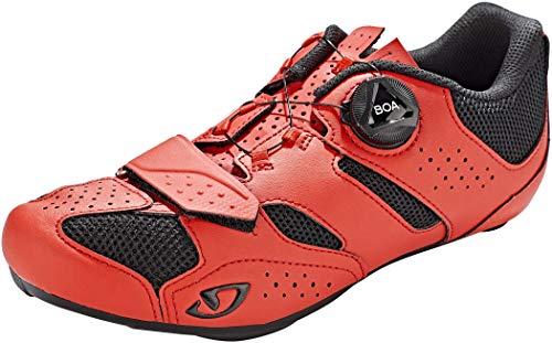 Giro Savix II - Zapatillas para Hombre, Color Negro y Rojo, Talla 45