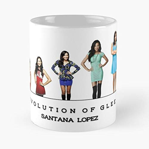 Tv Naya Rivera Glee Santana Lopez El mejor regalo taza de café con leche 11 oz