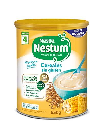 Nestlé Papillas NESTUM - Cereales para bebé, cereales sin gluten - 3 x 650 g - Total: 1.95 kg
