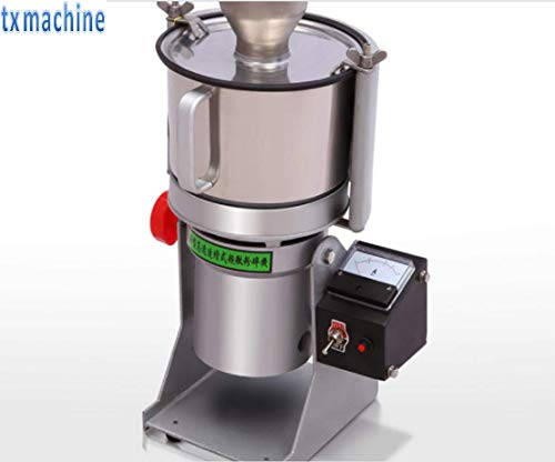 TX Automatic Herbs GrinderHerb MillsHerb Grinding MachineHerbs Grinder Machine Ultrafine pulverizer machine for grinding peal/teas/tar anise/ore/medicinal materials/chemical industry (220V/50HZ)