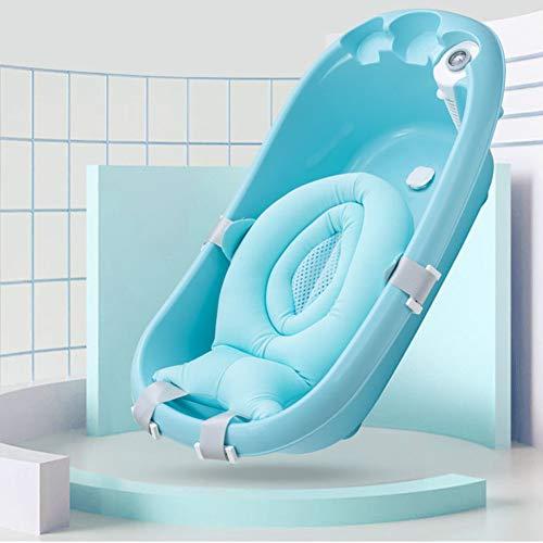 Bebis badstöd, solzit baby bad stöd svamp baby badkar kudde flytande halkfri badkudde mjuk sits badkar stöd för nyfödd BLÅ