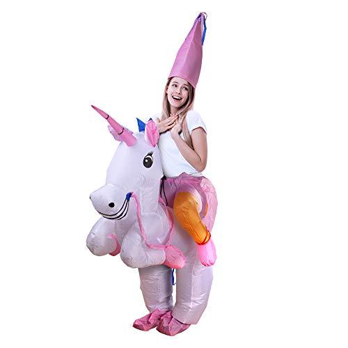 D-Mail - Disfraz Hinchable de Unicornio para Adultos