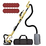 YATTICH Drywall Sander, Electric Motor Sander, 7 Variable Speed, 1000-1850RPM With LED Light, Extendable Handle, 12 Sanding Discs, with Automatic Dust Removal System and Carrying Bag, YT-917