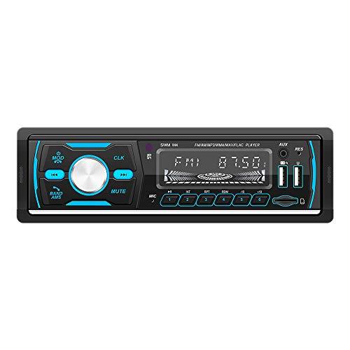 DAB Autoradio mit Bluetooth Freisprecheinrichtung,1Din Autoradio MP3 Player Unterstützung FM/AM/RDS Radio mit Zwei USB für Musik Spielen und Aufladen/TF/AUX/Fernbedienung