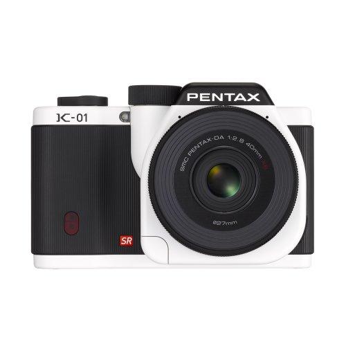 Pentax Mirrorless Body Design Compatible with Pentax K Mount Lenses K-01 Body Kit (White)