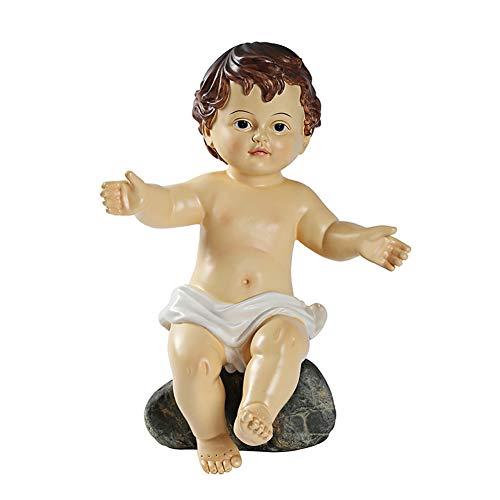 LYHD Hogar Decoración Figura Estatua Bebé Jesús Católica Cristiana Religiosa Regalo Niño Dios Santa Figura Religiosa 29cm