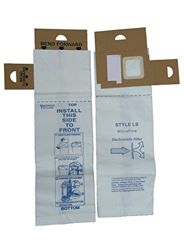 6 Eureka Type LS Sanitaire Vacuum Bags, LiteSpeed Upright, Bagged, Boss Signature Genesis, Powerline Limited, Sanitaire Commercial Vacuum Cleaners, Series 5700 & 5800, 62123 61820A, SC5815A, SC5713A