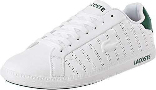 Lacoste Graduate 318 1 SPM, Baskets Hommes, Blanc (White/Green 082), 42 EU