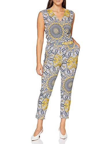 Comma Womens 81.006.85.2506 Overall 3/4 Jumpsuit, 81f0, 34