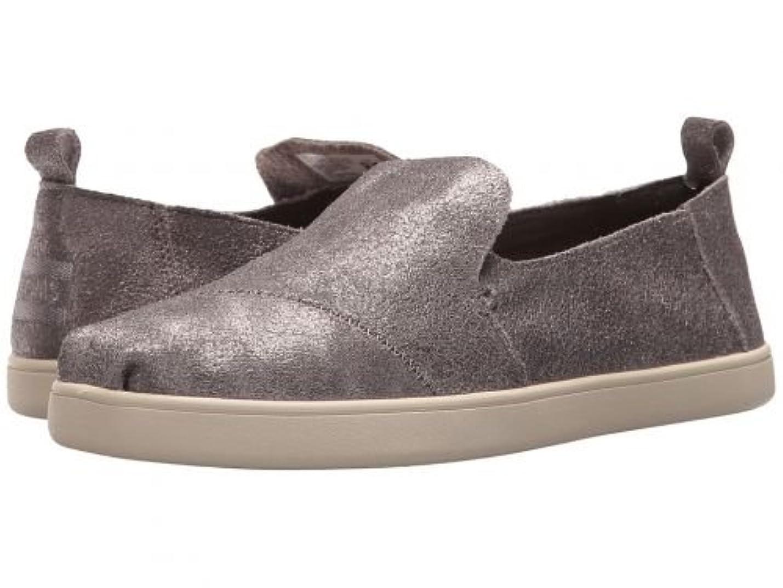 扇動暖かく吸収剤TOMS(トムス) レディース 女性用 シューズ 靴 ローファー ボートシューズ Deconstructed Alpargata - Pewter Metallic Leather 9 B - Medium [並行輸入品]