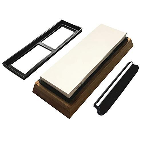 xMxDESiZ 10000Grit Whetstone - Cuchilla para afilar Cuchillos (Silicona, con Soporte)