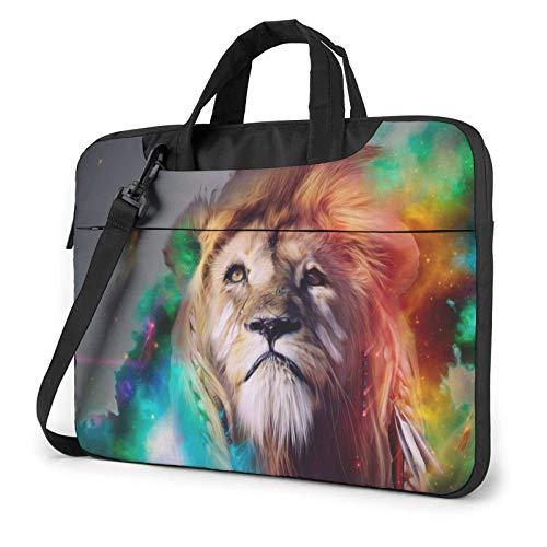 Colorful Lion Laptop Bag Messenger Bag Briefcase Satchel Shoulder Crossbody Sling Working Bag 15.6 Inch