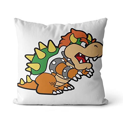 Cojín para silla Super Mary Throw Pillow Game Character Printing Home Decor Cojín para sofá cama de 35 x 35 cm