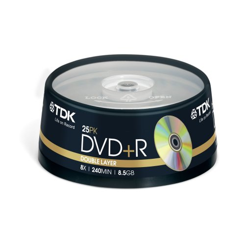 TDK Dvd+R Double Layer 8 5Gb 8X Box 25