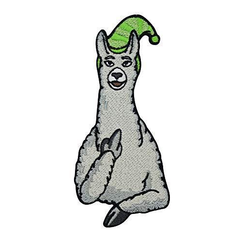 Finally Home Lamas mit Hüten Karl Mittelfinger Patch zum Aufbügeln | Lustige Alpaka Patches, Bügelflicken, Flicken, Aufnäher