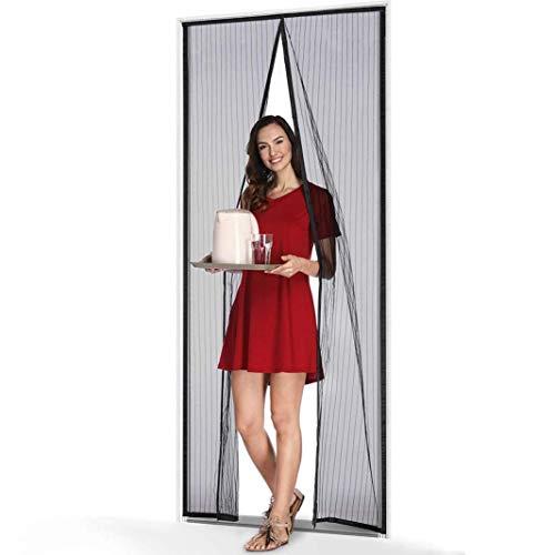 Aiwts Magnet Fliegengitter Tür Insektenschutz 98x200cm, Magnet Fliegenvorhang, einfach mit Schwerkraft Sticks zu verschließen, Klebmontage ohne Bohren