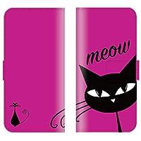 iPhone12 Pro 対応 スマホケース 全機種対応 手帳型 猫 ネコ キャット cat イラスト ネコちゃん かわいい 動物 シンプル カラフル スマートフォン ケース