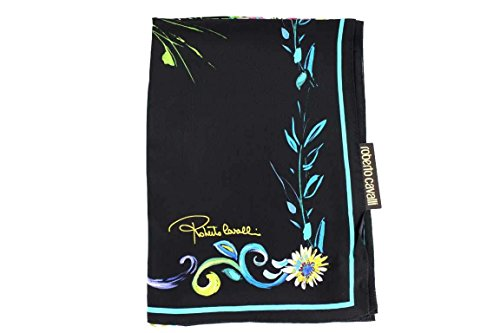 Roberto Cavalli Damen Schal Scarf im Geschenkbox Made in Italy 7b350 schwarz