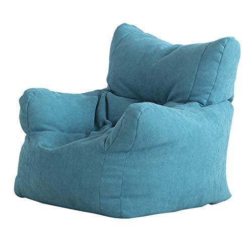 XLSQW Sedia da Fagioli per Bambini, sofà in Tessuto Pigro per Bambini Mini reclinabile 1 Sedile Poltrona Morbida Divano Lavabile, per Bambini Regalo,Blu
