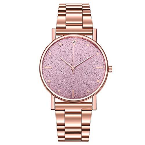 Women Wrist Watch, Waterproof Classic Quartz Watch Dress Watch with Stainless Steel Strap (E)