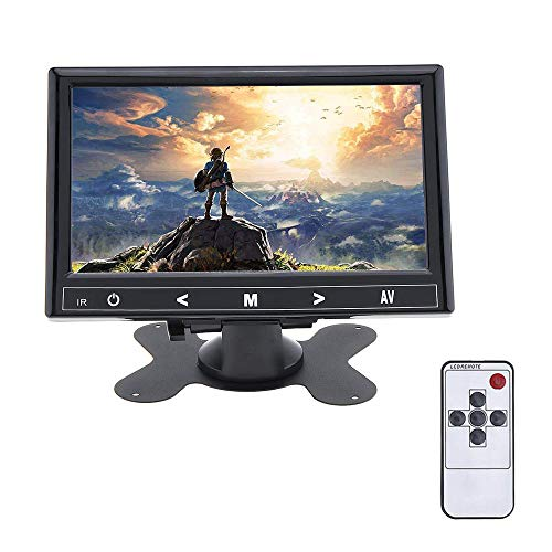 7インチ 小型モニター 1024*600 HD HDMI VGA AVポート DVR PC DVD 12V-24V 車載 ホーム オフィス 監視システム用 ディスプレイ 内蔵スピーカー イヤホンジャック付き 日本語取扱説明書付き 1 付き
