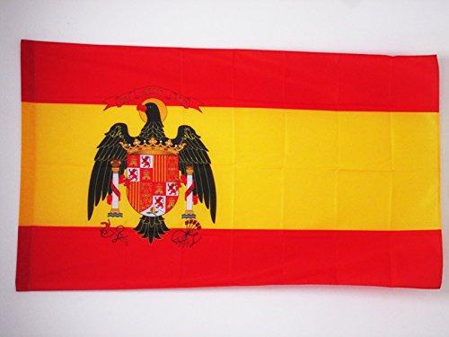 AZ FLAG Bandera de ESPAÑA 1977-1981 150x90cm para Palo - Bandera ESPAÑOLA con Aguila 90 x 150 cm