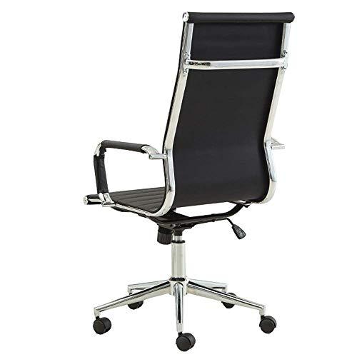 JIEER-C Slaapkamers Home Office bureaustoel Ijzeren frame computerstoel Imitatie lederen bureaustoel Leergewicht 130 kg zwart