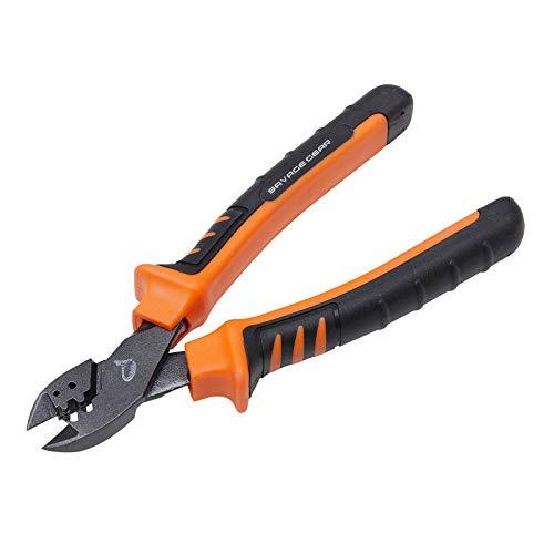 Savage Gear MP Cut & Crimp Pliers 22,5cm - Angelzange mit Schnurcutter & Klemmhülsen Funktion, Klemmhülsenzange, Cutter, Anglerzange für Raubfischmontagen