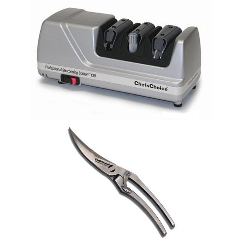 Chef's Choice Electric Knife Sharpener and Kitchen Shears Bundle