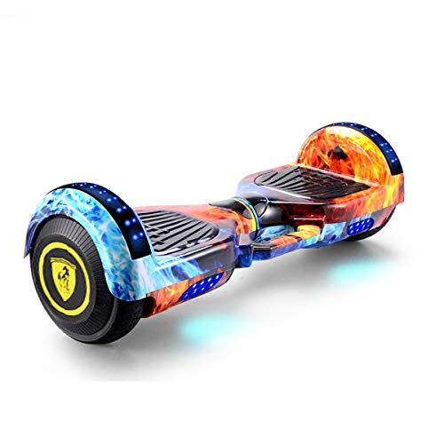 GEQWE Self Balance Scooter Eléctrico 6.5' Patinete Diseño Portátil Agregado con Luces LED Bluetooth Modelo Hoverboard Regalo para Niños + Un Conjunto De Equipo De Protección,Naranja