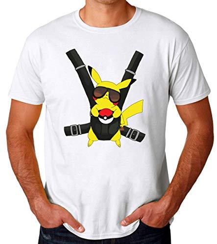 TeeWorld Pikachu Hangover Baby Funny Camiseta para Hombres X-Large