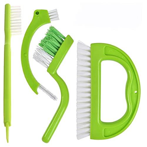 KunmniZ 4 Piezas/Juego Cepillo de Limpieza de Azulejos de lechada de baño en el hogar Elimina Accesorios de Cocina eficientes y convenientes para electrodomésticos