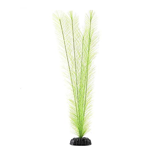 DAYOLY Künstliche Seegras Wasserpflanzen Plastikfedergras Pflanzen Aquarium Dekorationen Lebendige Pflanzenlandschaft für Aquarium Ornament (Schwarz)