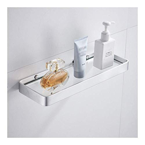 Estante para colgar en la pared, para baño, de cristal, de una sola capa, para ducha, de pared, sin perforación, 1214