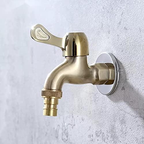 G1 / 2'grifo de toma de control de carrete de latón de apertura rápida en frío simple con boquilla grifo de lavadero montado en la pared de cocina de una manija de latón