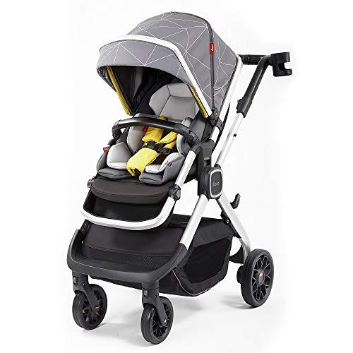 Diono Quantum2, 3-in-1 Luxury Multi-Mode Stroller, Grey Linear (72304)