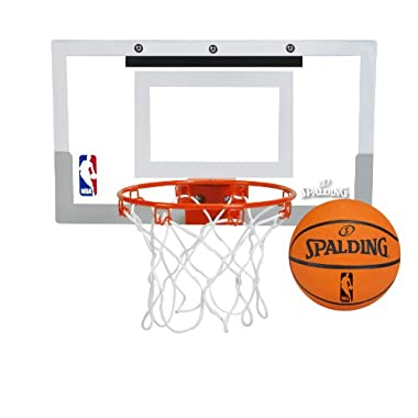 Spalding NBA Slam Jam Over-The-Door Mini Basketball Hoop