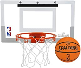 Spalding NBA Jam Over-The-Door Mini Basketball Hoop White/Orange, 18