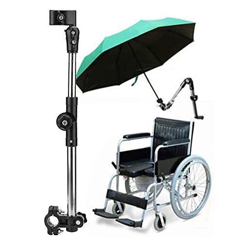YIQIFEI Soporte Ajustable para Paraguas al Aire Libre, Soporte para Conector de Paraguas, para sillas de Ruedas, Andador, Andador, Bicicleta, Cochecito, Acceso para Silla de Ruedas (Silla)