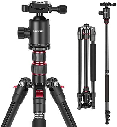 Neewer 77 Inch Tripod Camera Tripod for DSLR 2 in 1 Compact Aluminum Tripod Monopod with 360 product image