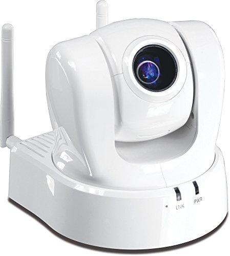 TRENDnet ProView Wireless Pan, Tilt, Zoom Network Surveillance Camera with 2-Way Audio, TV-IP612WN (White)