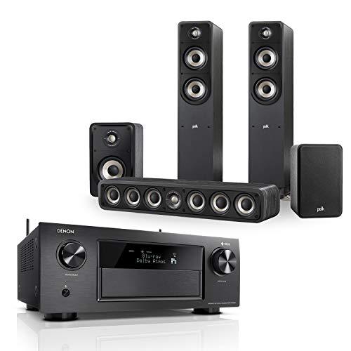 Denon AVRX4400H 9.2 Premium AV-Receiver (HEOS Integration, WLAN, Bluetooth) schwarz + Polk Signature E Serie Lautsprecher-Set