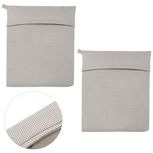 Remagr 2 Pieces Microwave Potato Bags Washable Microwave Cooker Bag Reusable Baked Potato Cooker Pouch Baked Corn Cooking Pouch for Vegetable Potatoes (Grey)