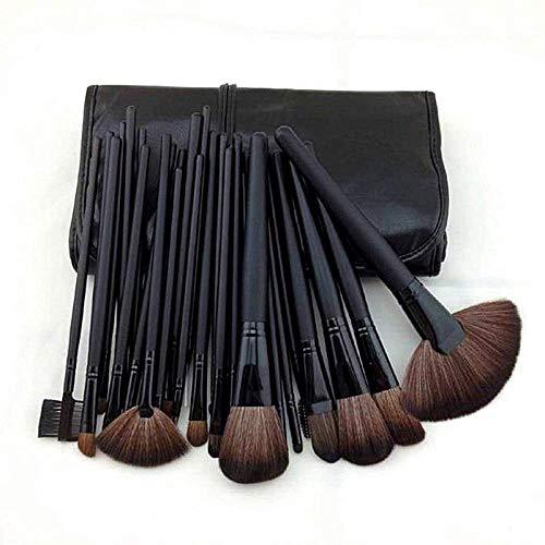 MEISINI Kit de pinceau de maquillage doux brosses cosmétiques fard à paupières contour contour poudre correcteur lèvres pinceau visage multifonctions trousse de toilette pour les femmes, noir