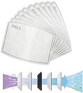 100PCS PM2.5, filtro de carbón activado protector reemplazable de 5 capas, antivaho, antibacteriano, antivaho, a prueba de...